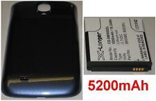 Blue Cover Case + Battery 5200mAh type B600BE B600BU For SAMSUNG Galaxy S4