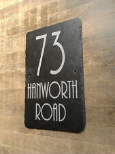 Big Slate House Sign 40cm x 20cm ANY NAME / NUMBER / DETAILS by 1st 4 Signs