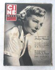 CINE-REVUE 16 novembre 1951 SIMONE RENANT CHARLIE CHAPLIN GREGORY PECK MILLAND