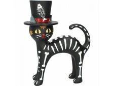 CAT IN A HAT 20.7cm Nemesis Now Black Cat Figurine Day Of The Dead BNIB FREE P+P