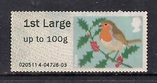 GB 2012 QE2 1st Large Post & Go to 100 gms Christmas Robin No Gum ( C669 )