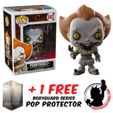 FUNKO POP VINYL IT 2017 PENNYWISE W SEVERED ARM EXCLUSIVE + FREE POP PROTECTOR