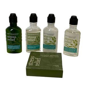 Bath & Body Works Aromatherapy Stress Relief Set of 5 Sample Size