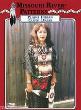 Missouri River Plains Indian Comanche & Sioux Women's Cloth Dress Sewing Pattern