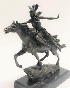 Antique Style Bronze Roman/Greek NUDE Woman Amazon Warrior On Rearing Horse Deal