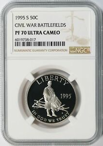 1995-S 50c Civil War Battlefield Commemorative Half Dollar NGC PF70 Ultra Cameo