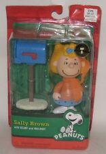 2010 Peanuts Snoopy's Sally Brown Christmas Figurine, Mailbox, Scarf Sealed Nip