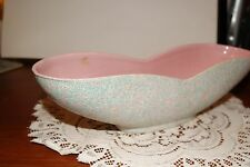Vintage.Shawnee Pottery.Pink, Turquoise & White Speckled.Planter.U.S.A