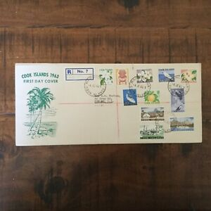 COOK ISLS 1963 Definitives to 5s registered FDC  (e99)