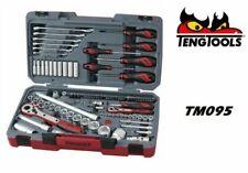 Teng Socket Tool Set 95 Piece 1/2 & 1/4 Inch Drive Deep Sockets Spanners - TM095