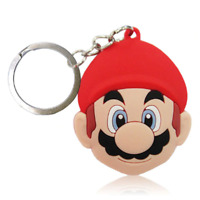 Super Mario Bros PVC Kawaii Cartoon Novelty Novelty Keyring Keychain Gift Bag