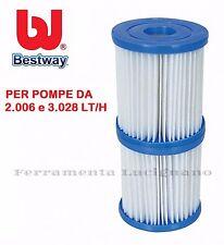 BESTWAY 58094 FILTRO CARTUCCIA DI RICAMBIO PER POMPA MOTORE PISCINA DA 3028 LT/H