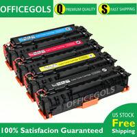 4 PK Color Toner for HP CC530A 304A Laserjet CP2025dn CP2025n CM2320nf Printer