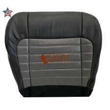 2001-2003 F150 Harley Davidson Driver Bottom Seat Cover 2 Tone Black/Gray