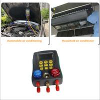 Digital Display A/C Refrigerant Pressure Gauge Group Fluorine Plus Liquid Meter