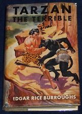 TARZAN THE TERRIBLE Edgar Rice Burroughs G&D 1955 Adventure Stories for Boys ed.