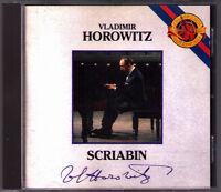 Vladimir HOROWITZ: SCRIABIN 10 Etude 2 Sonata, Poems CBS CD 1987 Klaviersonaten