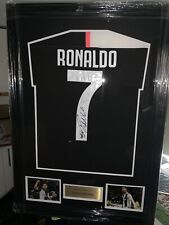 SIGNED FRAMED CRISTIANO RONALDO JUVENTUS Shirt  £299  Plus P&p BEST EVER DEAL