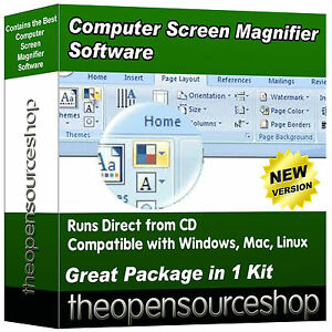 Pro Computer Screen Magnifier Software – Magnifying Lens for Low Vision Viewers
