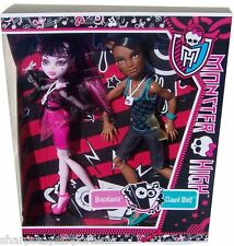 Monster high music festival clawd wolf et draculaura 2 poupée pack