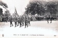 CPA REVUE DU 14 JUILLET 1917 - LE DRAPEAU DES CHASSEURS