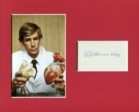 William DeVries Artificial Heart Doctor Jarvik-7 Signed Autograph Photo Display