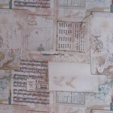 MO04 Moda Vintage Music Travel Sepia Postcards Maps Quilting Cotton Quilt Fabric