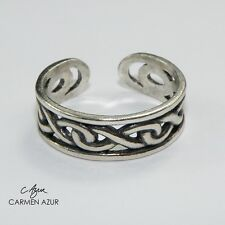 Solid 925 Sterling Silver Toe Ring Celtic Style Design, Ladies New with Gift Bag