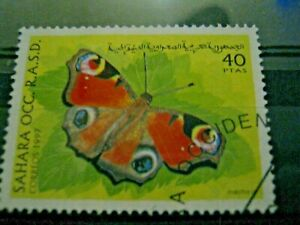Timbre ESPAGNE Sahara OCCIDENTAL PAPILLON