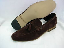 M061 Mens Leather Lined Slip On Suede look Tassel Loafers SIZE 6 7 8 9 10 11 12