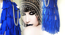 Kate Moss RARE Flapper Dress Gatsby Downton 20's Vintage 4 6 32 34 US 0 2 Tassel