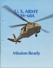 SIKORSY U.S. ARMY UH-60A HELICOPTER MISSION READY MANUFACTURERS SALES BROCHURE