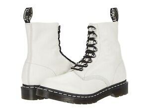 Women's Shoes Dr. Martens 1460 PASCAL HARDWARE Leather Boots 26104115 BONE