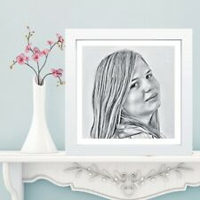 Charcoal Effect Portrait - Customised Digital Illustration - Unique Gift