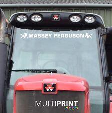 Massey Ferguson Tractor SUNSTRIP Sunvisor Calcomanía Vinilo Sticker Libre Post-MAS1