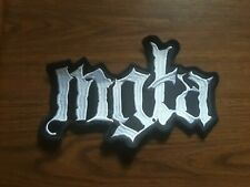 MGLA,SEW ON WHITE EMBROIDERED LARGE BACK PATCH