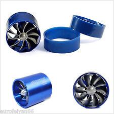 Nuevo Azul 55mm Coche Ahorro De Gas Combustible de entrada de aire turbina Turbo Cargador único Ventilador Kit