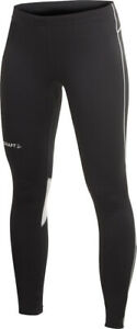 Craft T & F Long Womens Running Tights Black Zipped Ankles L XL UK14 UK16