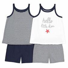 Lot de 2 pyjamas shorts fille coton imprimé blanc bleu LA REDOUTE taille 10 ans