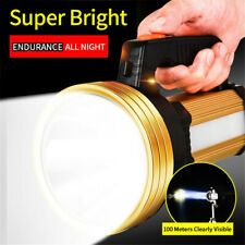 200000LM LED Flashlight Work Light Torch Spotlight USB Rechargeable Searchlight
