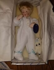 "Royal Heirloom Collection Sleepy Tim  11"" Porcelain Doll w/ Lamb. By Tomich. IOB"