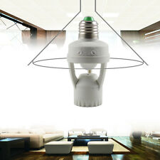 AC 110-220V IR INFRAROSSO SENSORE DI MOVIMENTO E27 Socket SWITCH Base Lampadina LED Luce Lampada