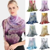 Fashion Women Pretty Long Soft Chiffon Scarf Wrap Shawl Beach Stole Scarves