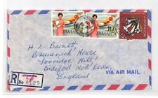 BQ179 1973 Jamaica Kingston *Chapelton* Registered Air Mail Cover {samwells}PTS