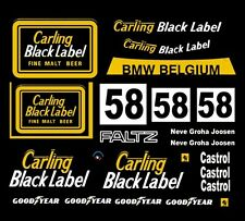 #58 Carling Black Label BMW 1978 1/32nd Scale Slot Car Decals