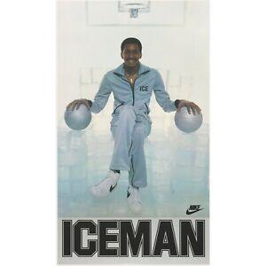 1980s Nike George 'Iceman' Girvin Poster Vintage Reprint NIP NBA Basketball Spur