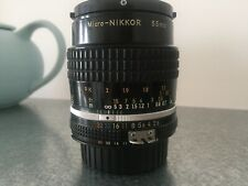Nikon Micro-Nikkor 55mm f2.8 in VERY GOOD condition - was used with Sony & Fuji