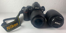 Nikon D D5000 12.3MP Digital SLR Camera - Black (Kit w/ VR AF-S DX 18-55mm & 55-