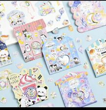 (1 Pack)Cute Animal Collection Kawaii Stationary Sticker  Flakes Set (PREORDER)