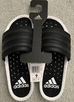 adidas Adilette Boost White Black EG1910 Slides Sandals SIZE 9